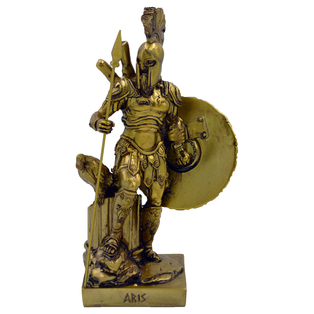 Ares god of war with spear and shield 22cm