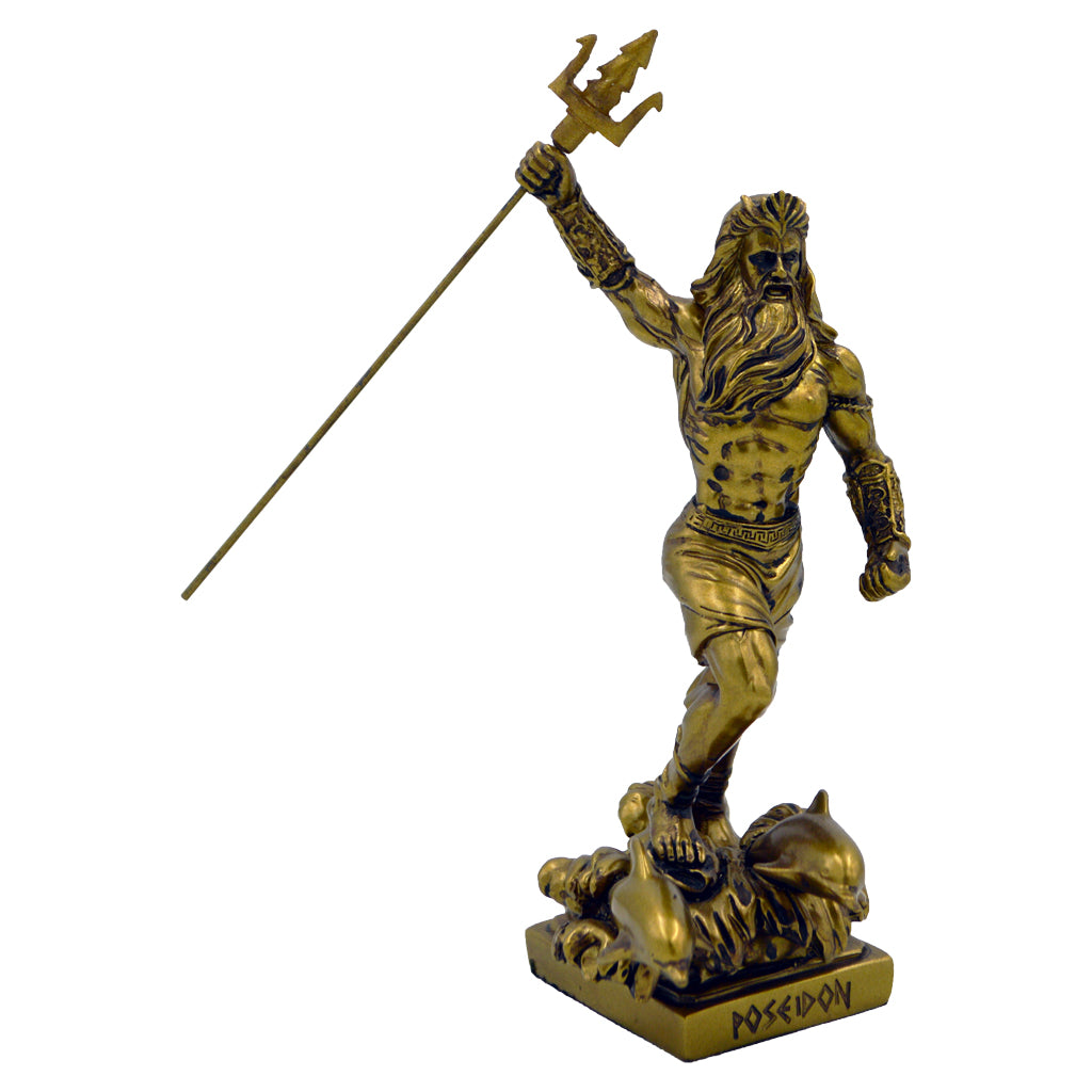 Poseidon victory pose with trident 20cm