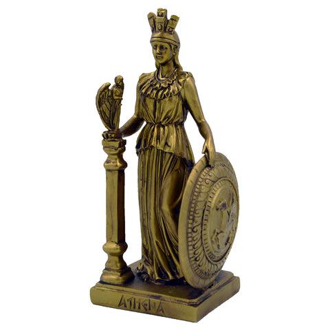 Athena with shield and a little angel 20cm