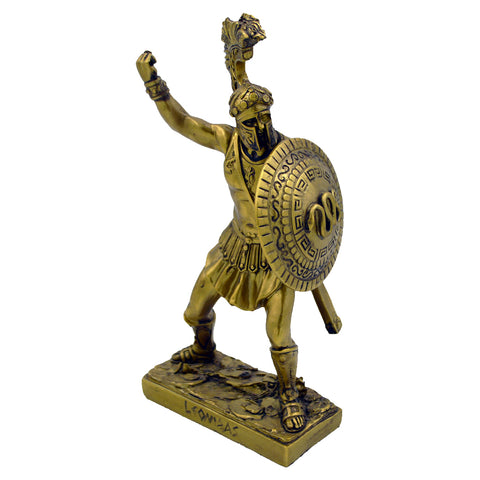 Leonidas Greek warrior king with shield 18cm