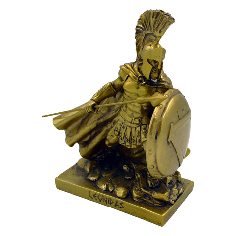 Leonidas Greek warrior king with spear and shield 17cm