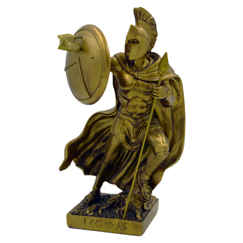 Leonidas with shield and arrows on