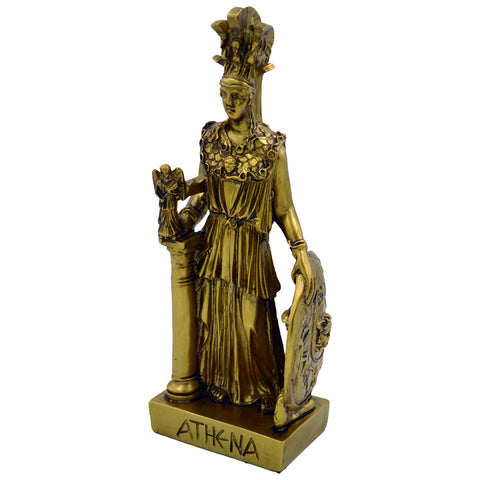 Athena with shield and little angel 26cm