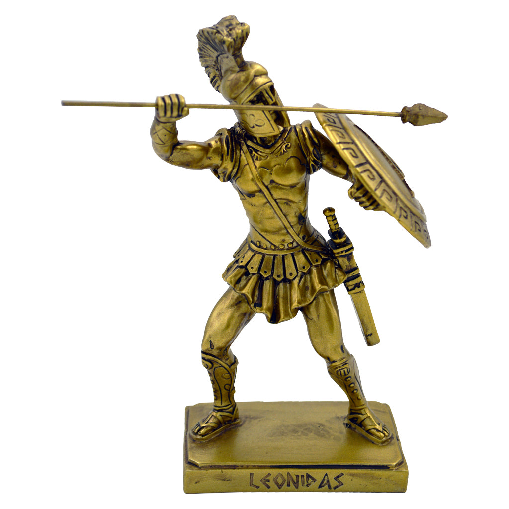 Leonidas Greek warrior king with spear and shield 20cm