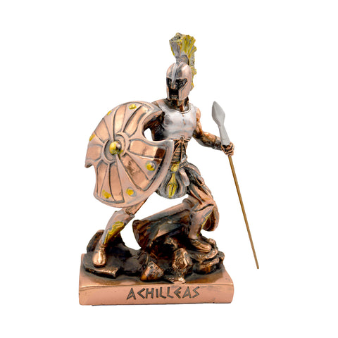 Achilleas Greek hero in defence 18cm