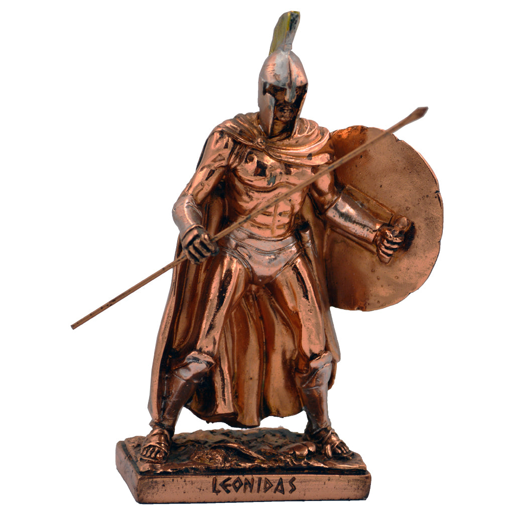 Leonidas Greek warrior king with spear and shield 16cm