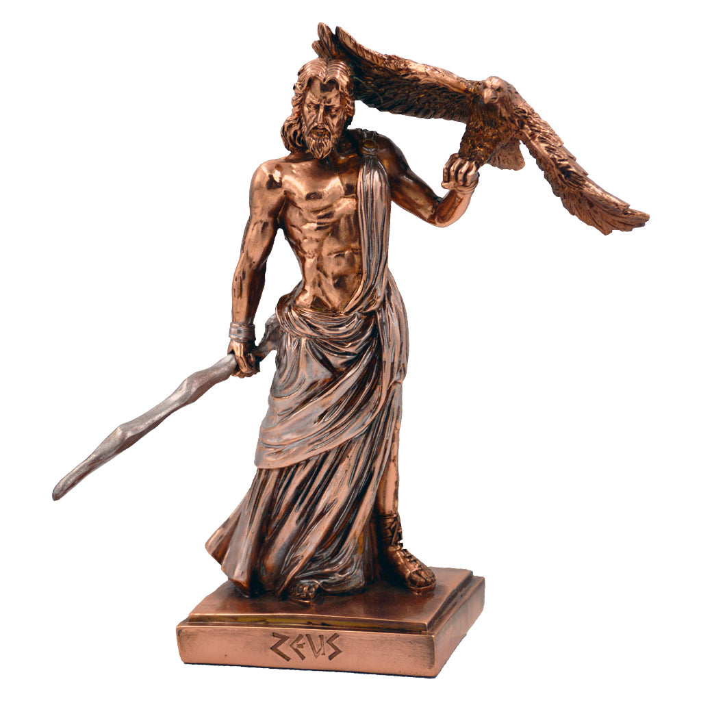 Zeus with a hawk on his left hand 17cm