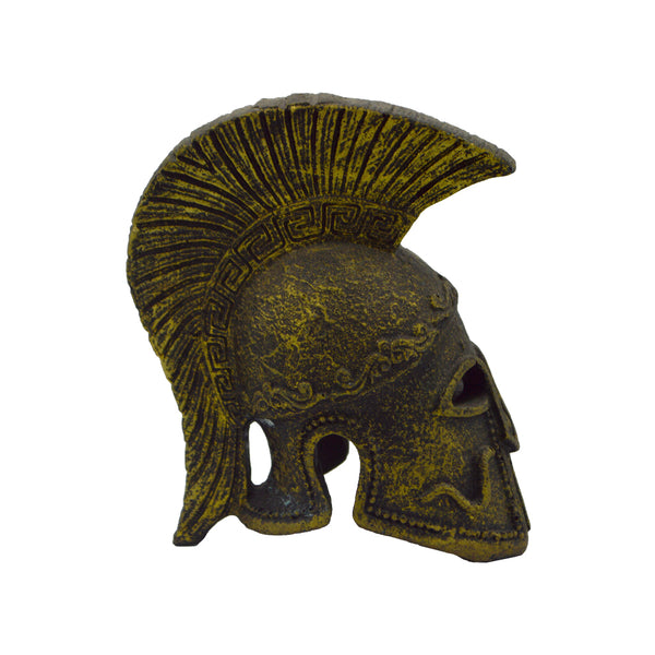 Athenian helmet with snake (bronze natural oxydite) 12cm