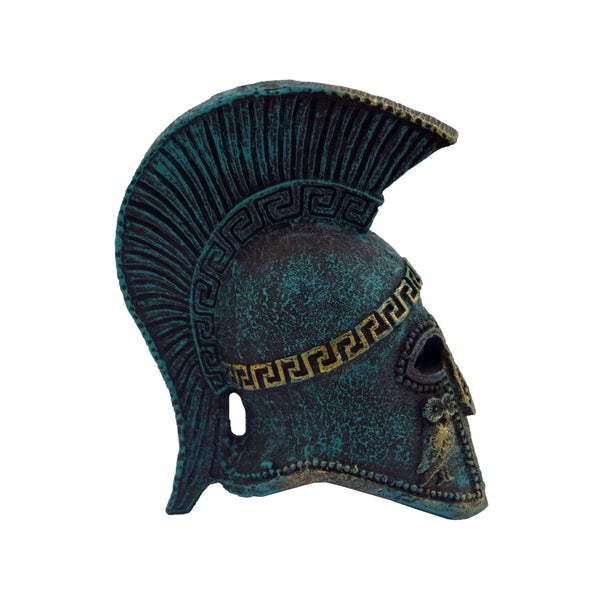 Athenian helmet with owl (bronze natural oxydite) 12cm