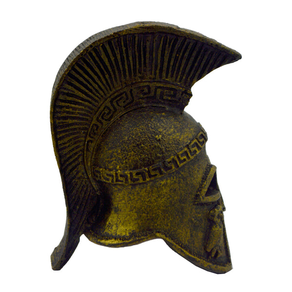 Athenian helmet with owl (bronze natural oxydite) 8cm