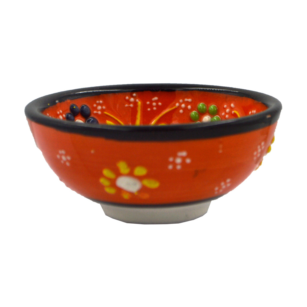 Ceramic bowl (orange) 8cm