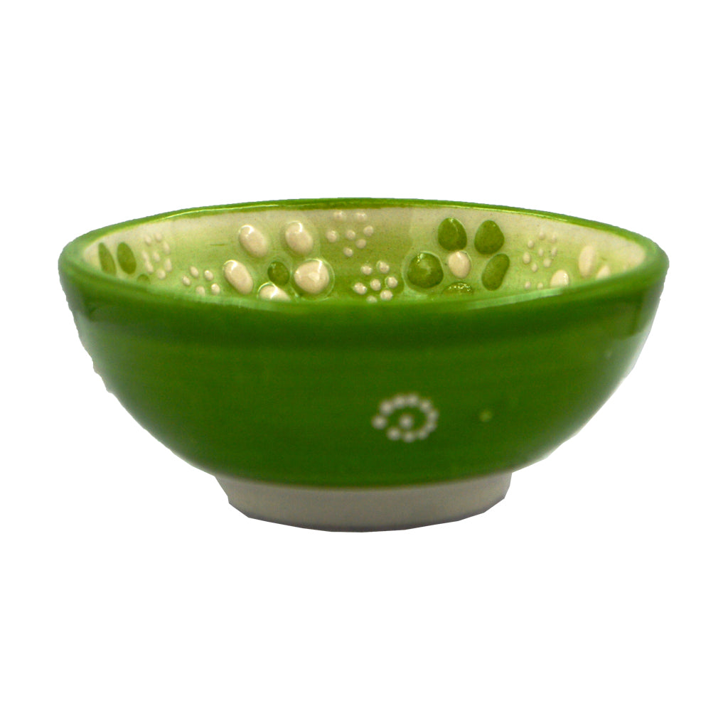 Ceramic bowl (green) 8cm