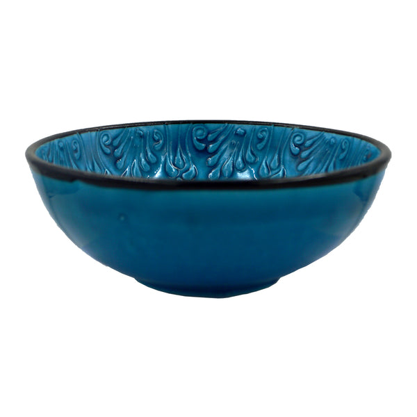 Ceramic bowl (light blue - black) 15cm
