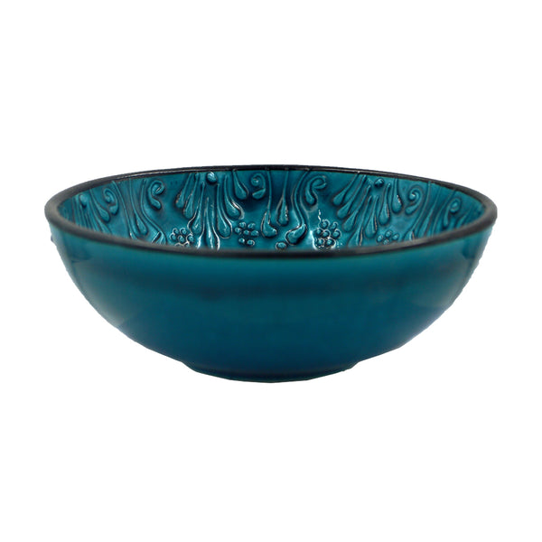 Ceramic bowl (light dark - blue) 15cm