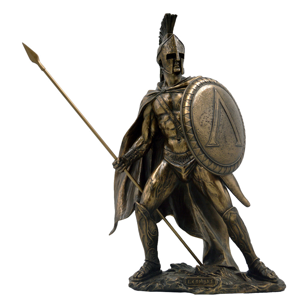Leonidas Greek warrior king of sparta with spear and shield 33cm