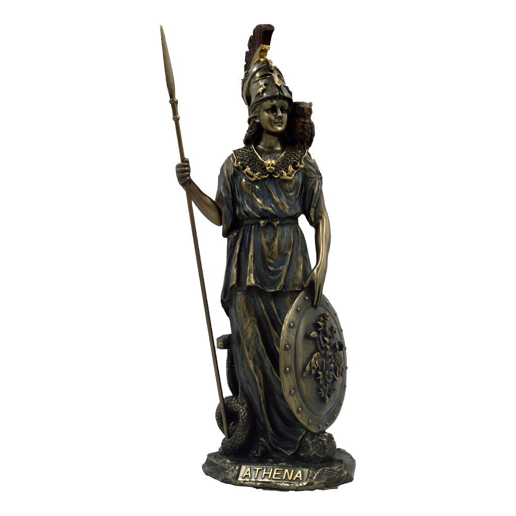 Athena with owl, spear and shield 29,5cm