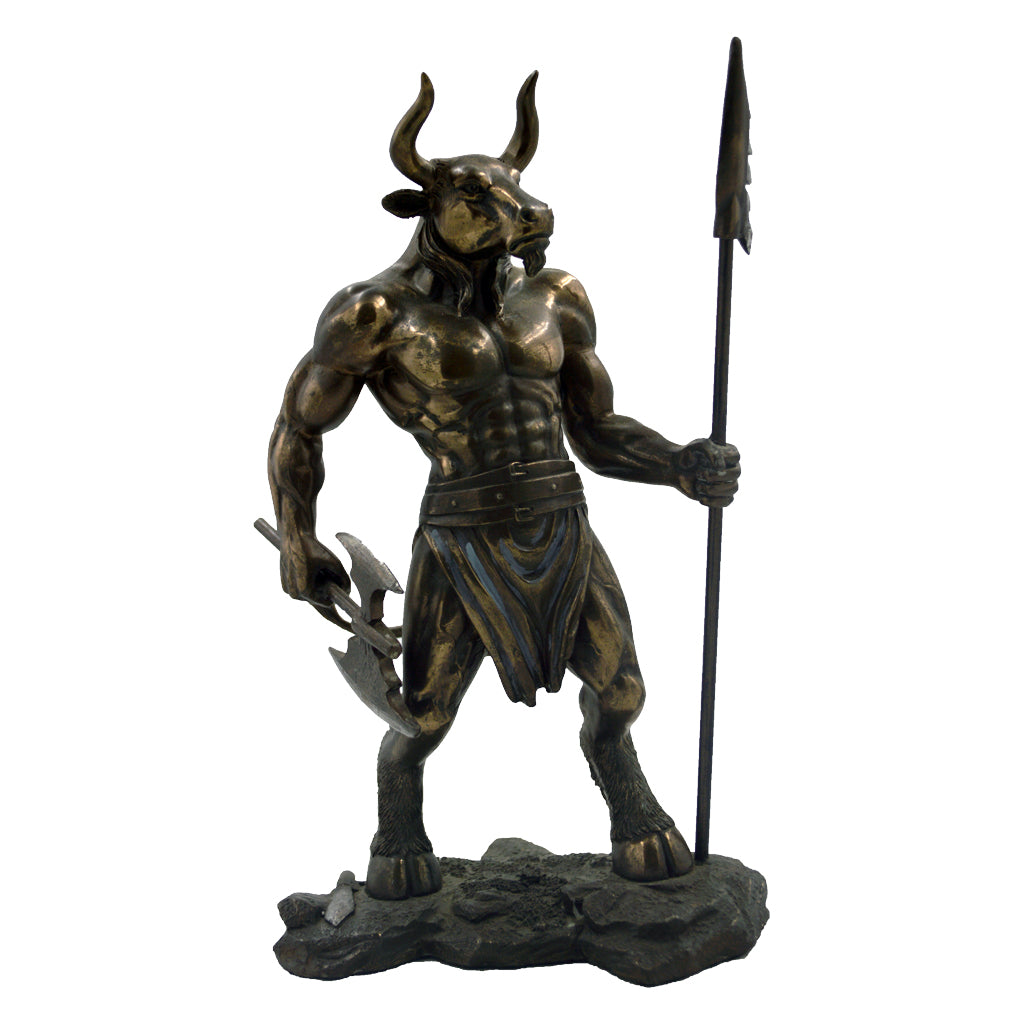 Minotaur with spear and double axe 29cm