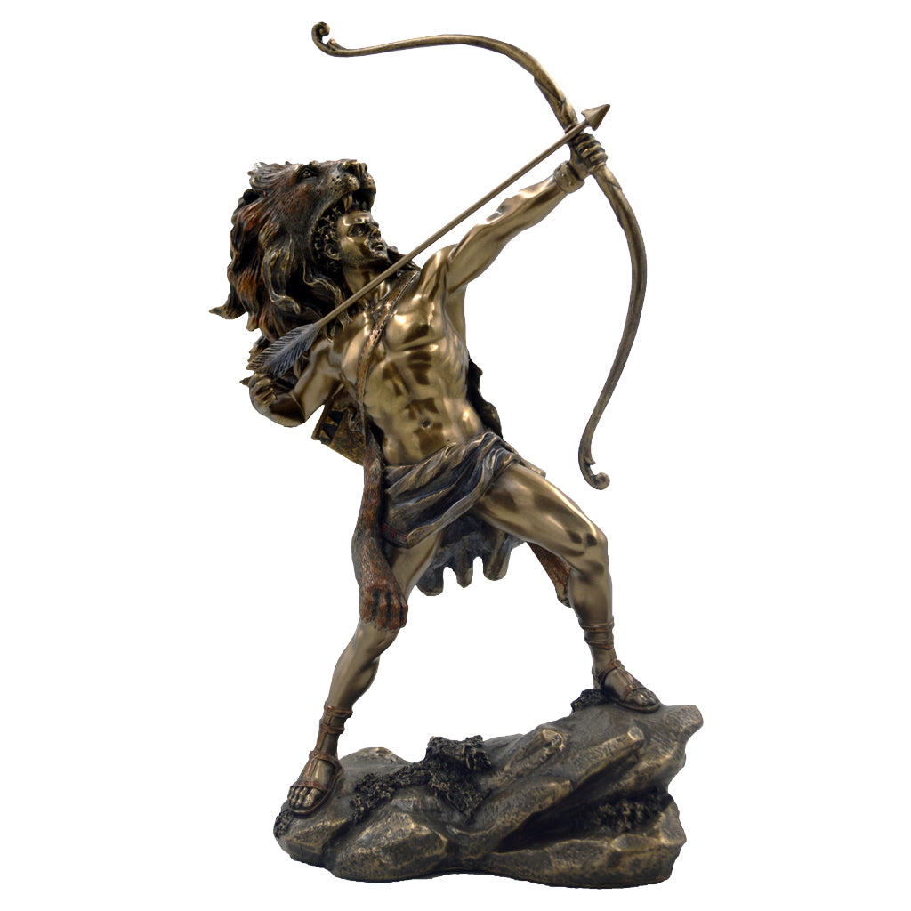 Hercules protector of athletics and the founder of the Olympic Games with bow 29cm