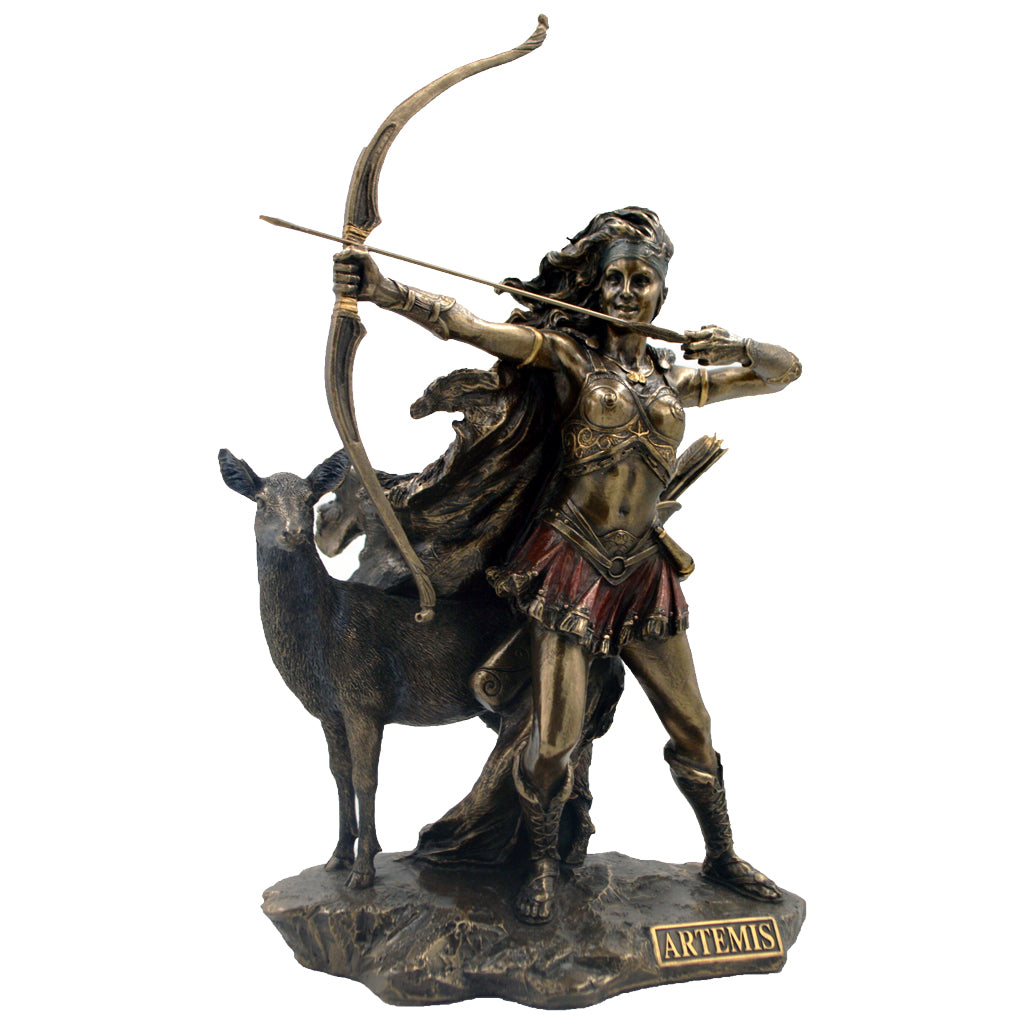 Artemis with deer and bow 31cm