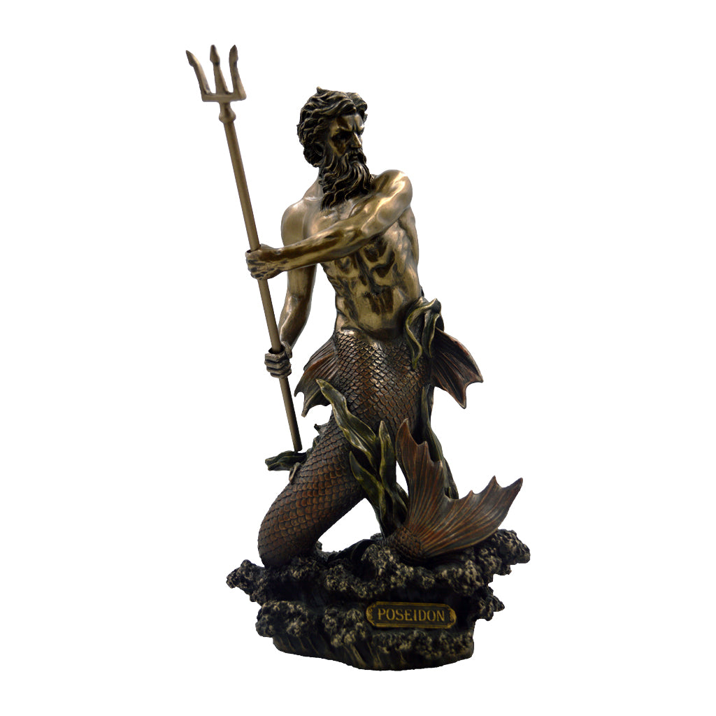 Poseidon in sea form holding his trident 29cm