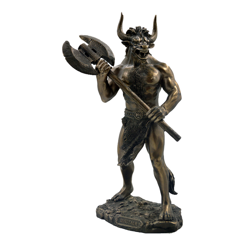 Minotaur with double head battle axe 28cm