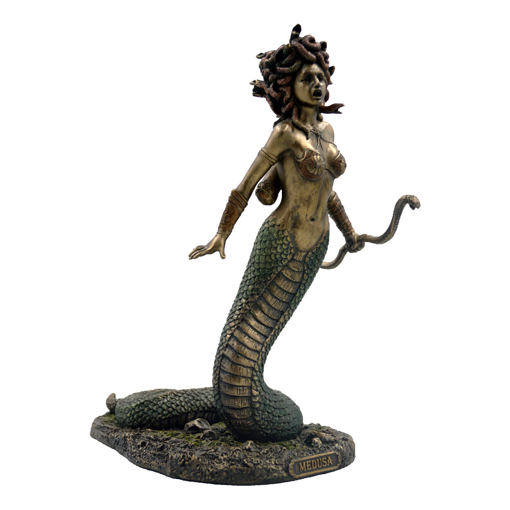 Medusa half snake with bow