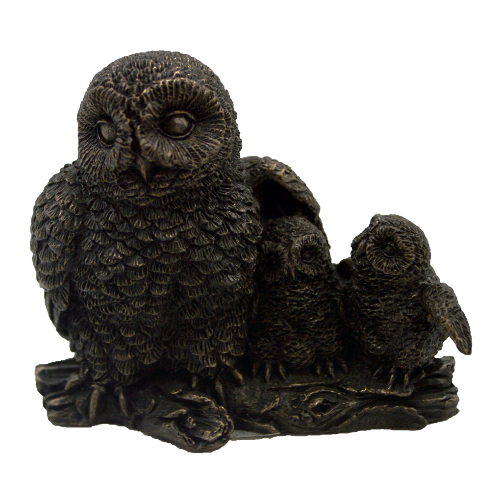 Owl with two little owls 6cm (owl of athena)