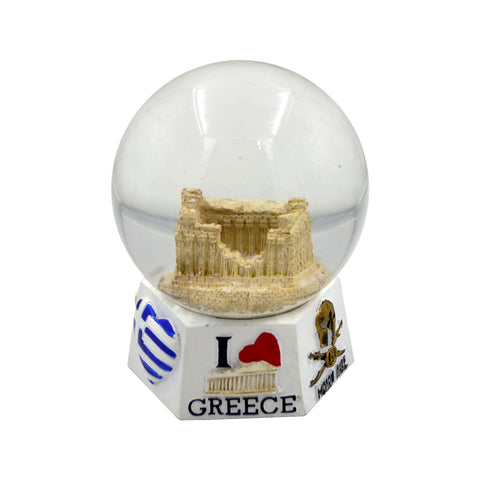 Snow ball with Acropolis (white) 10cm