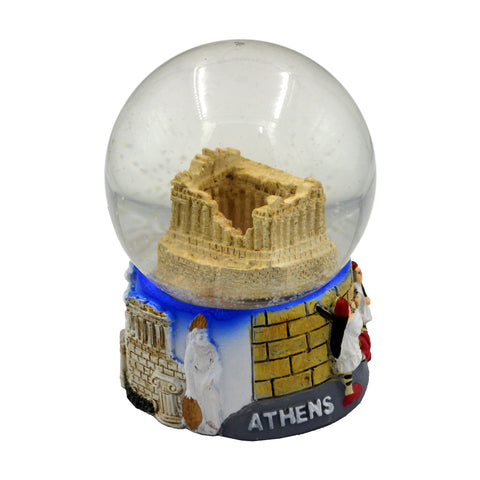 Snow ball with Acropolis (blue) 9cm