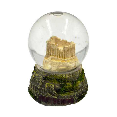 Snow ball with Acropolis with grass and parthenon logo (grey) 6cm