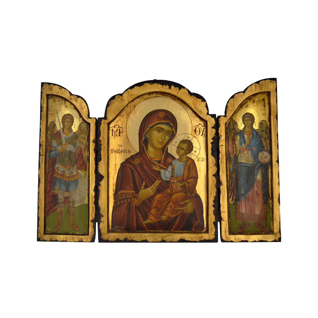Triptych (Virgin Mary and The Taxiarchs) 30cm