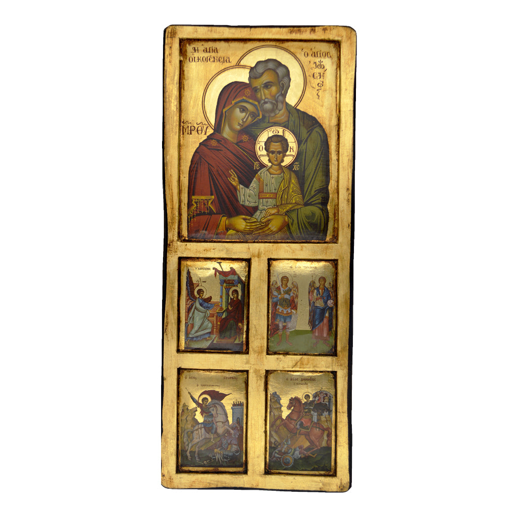 The Holy Family and Saints