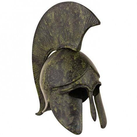 Corinthian helmet with crest 8cm (bronze natural oxydite)
