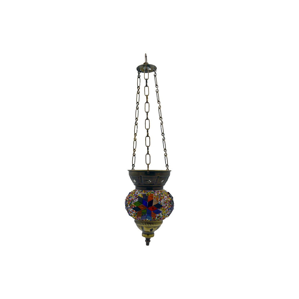 mosaic lamp (red - blue) 18cm