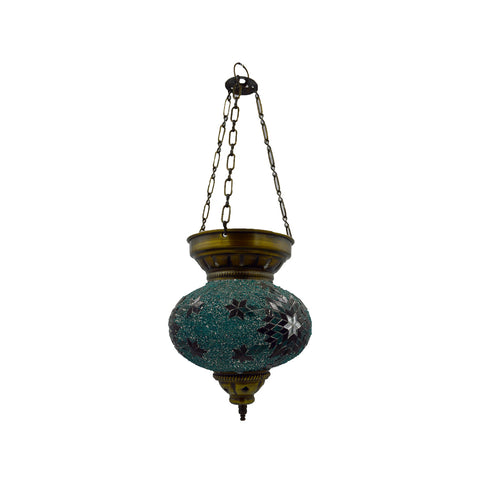 Mosaic lamp (green - blue) 26cm