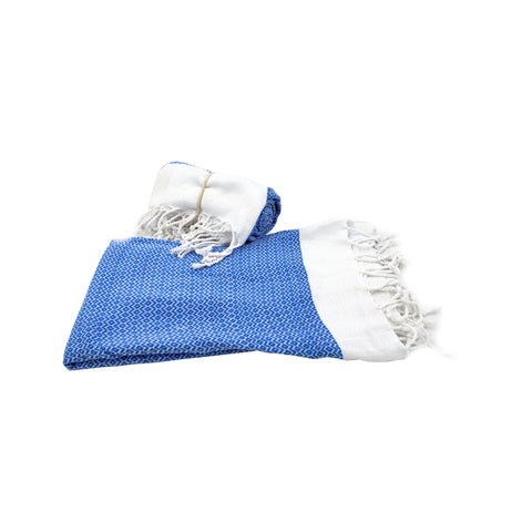Pestamal towel blue - white 175cm