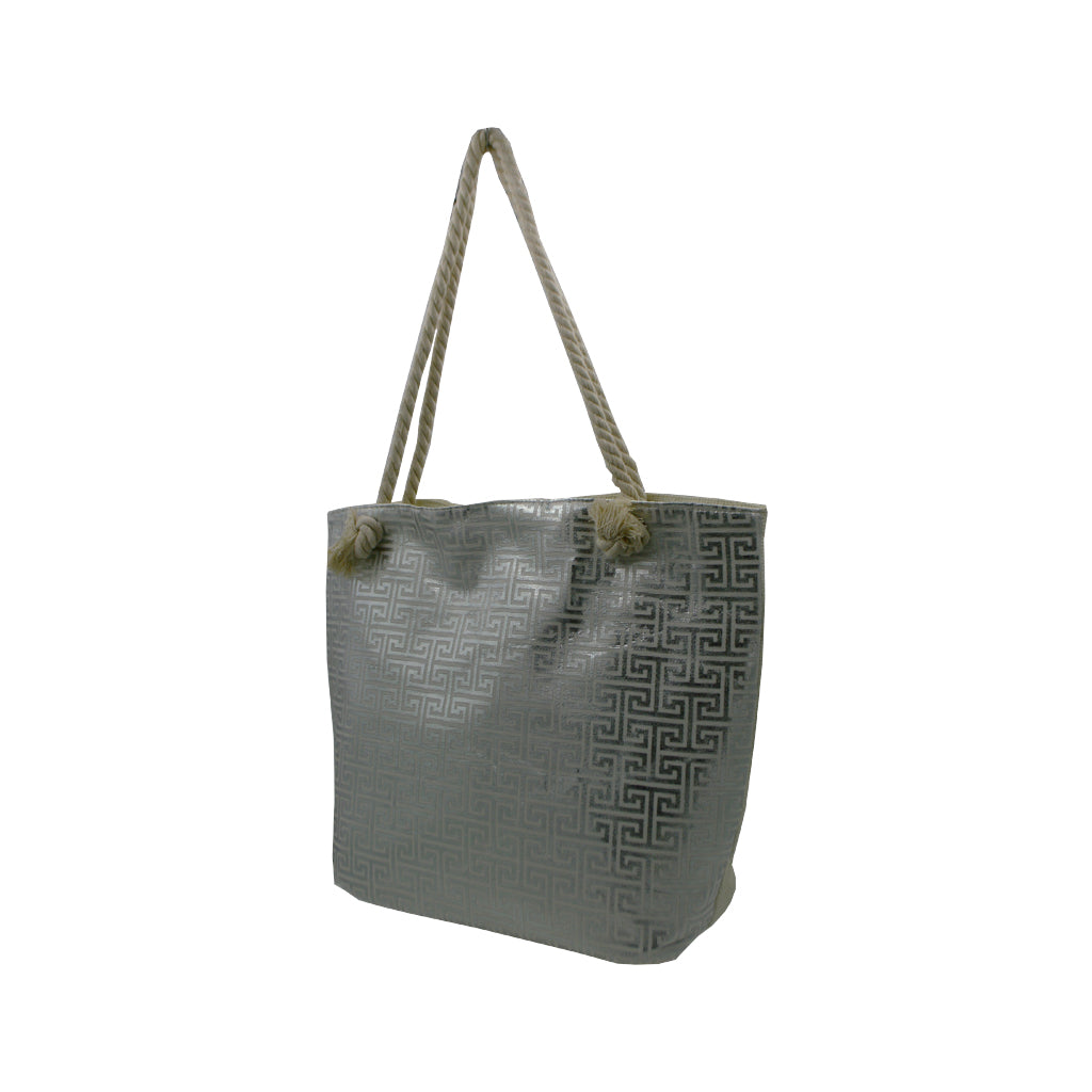 Bag dark grey with meandros signs 49cm