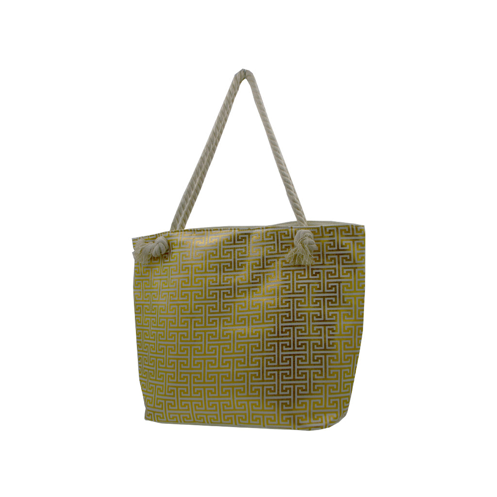 Bag dark green with meandros signs 49cm
