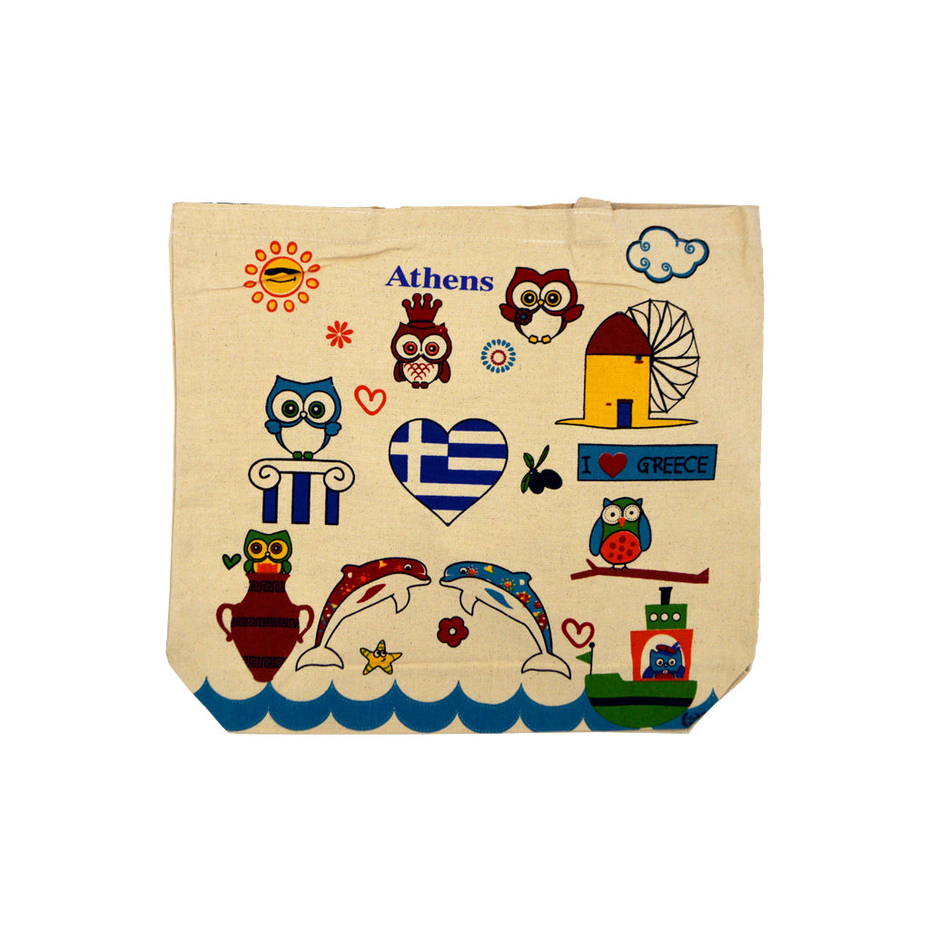 Bag with different colorful figures 45cm