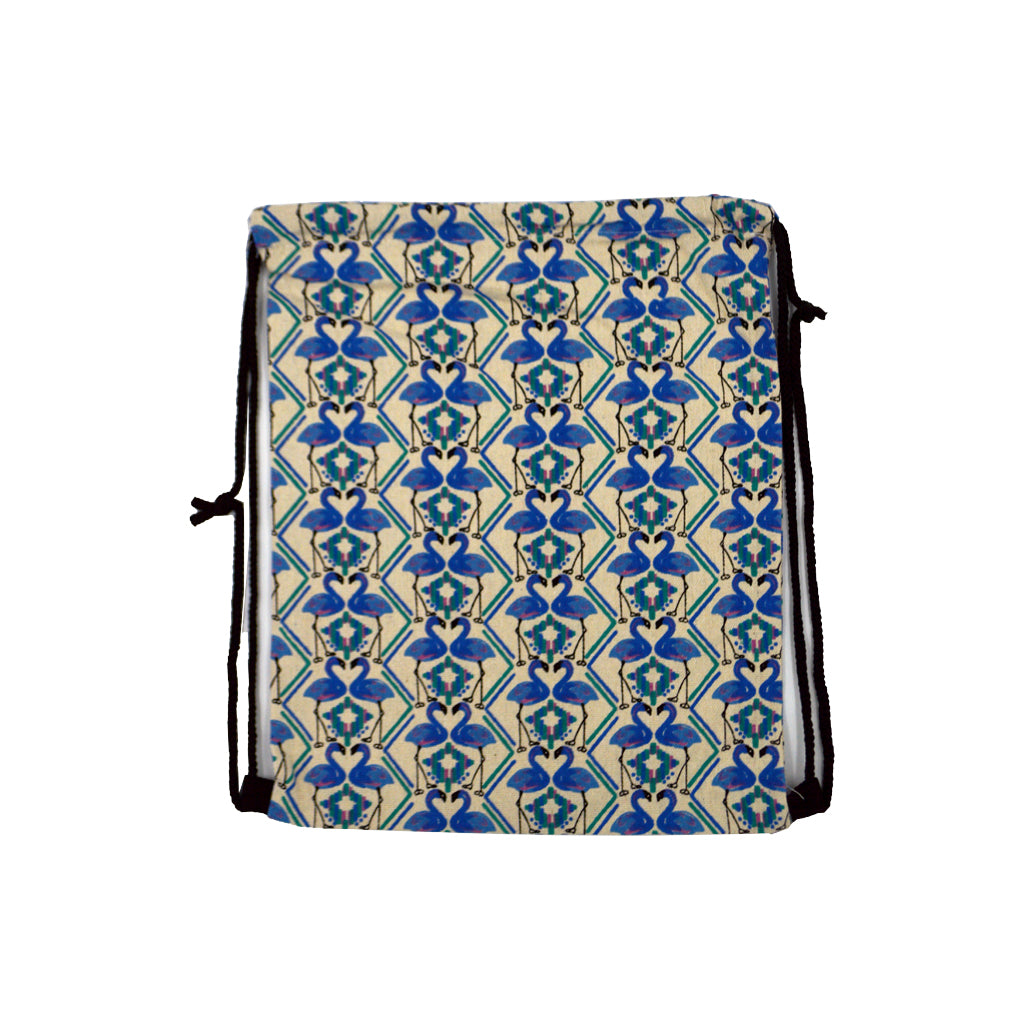 Bag with blue swans 40cm