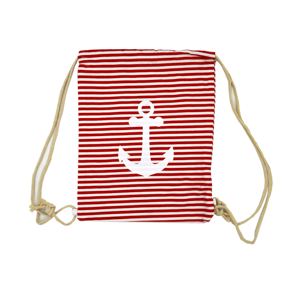 Bag withe red-white lines and a big anchor 40cm