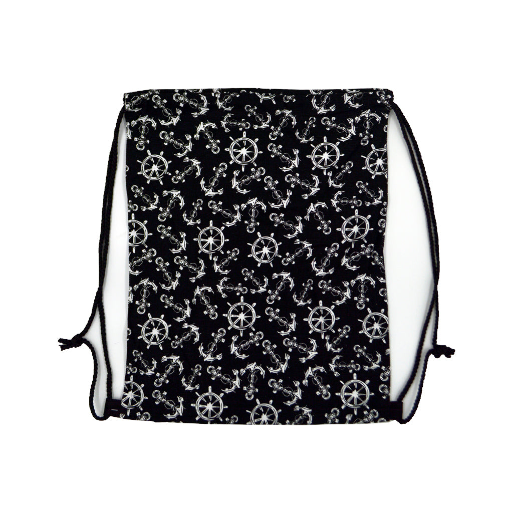 Bag black with anchors and steering wheels 40cm