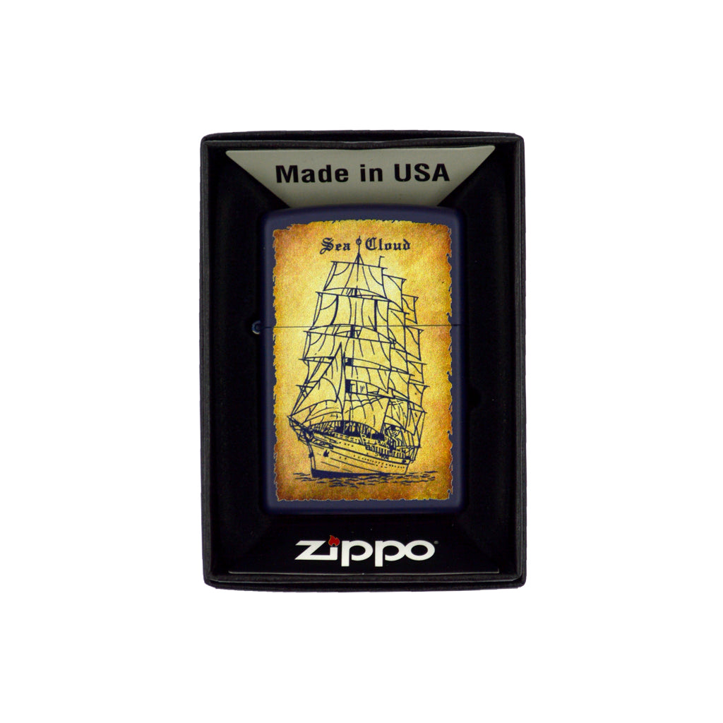 Zippo with ship (yellow mix) 6cm