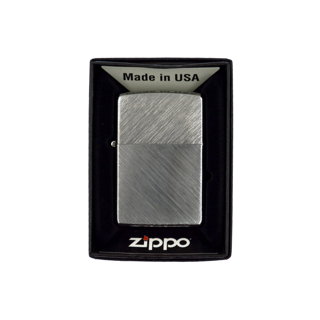 Zippo with lines (silver) 6cm
