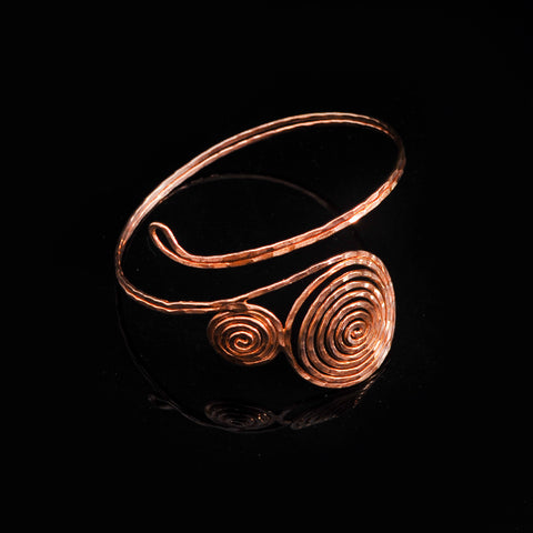 Pink gold plated bangle