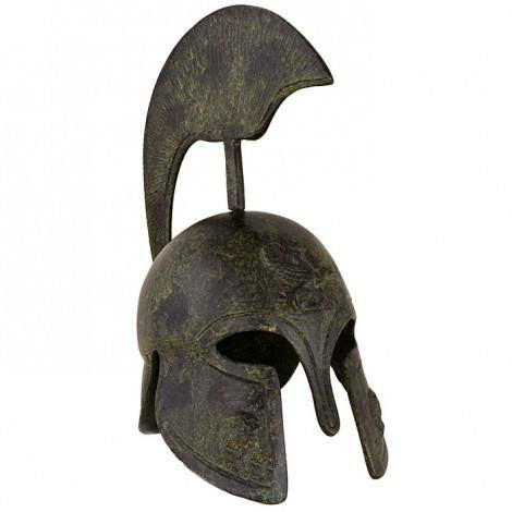 Corinthian helmet with high crest 20cm (bronze natural oxydite)