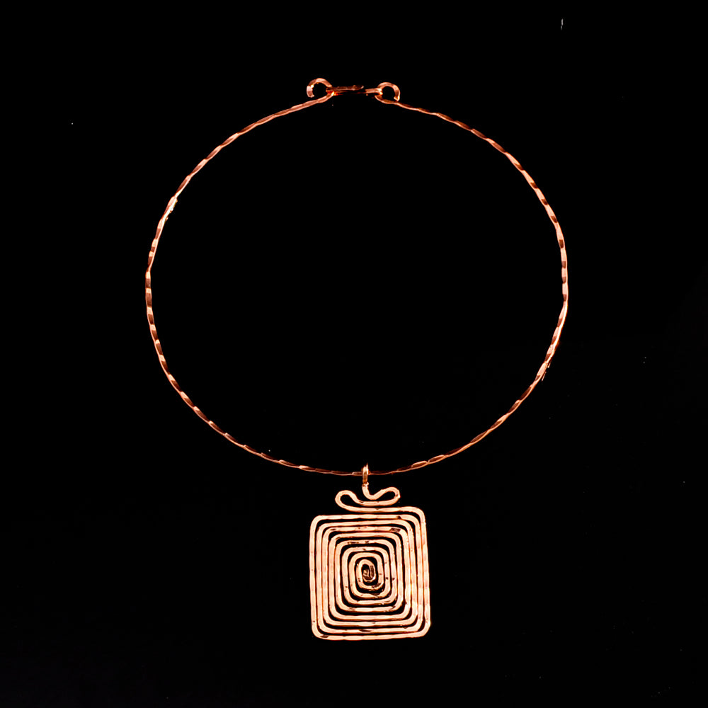 Pink gold plated meandros symbol of eternity