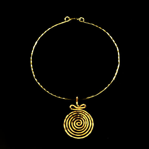 Gold plated pendant long life spiral