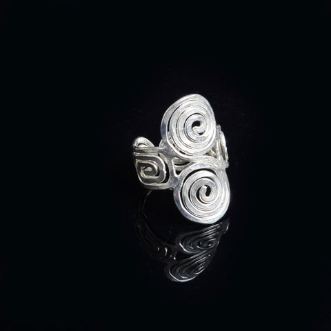 Silve platted ring