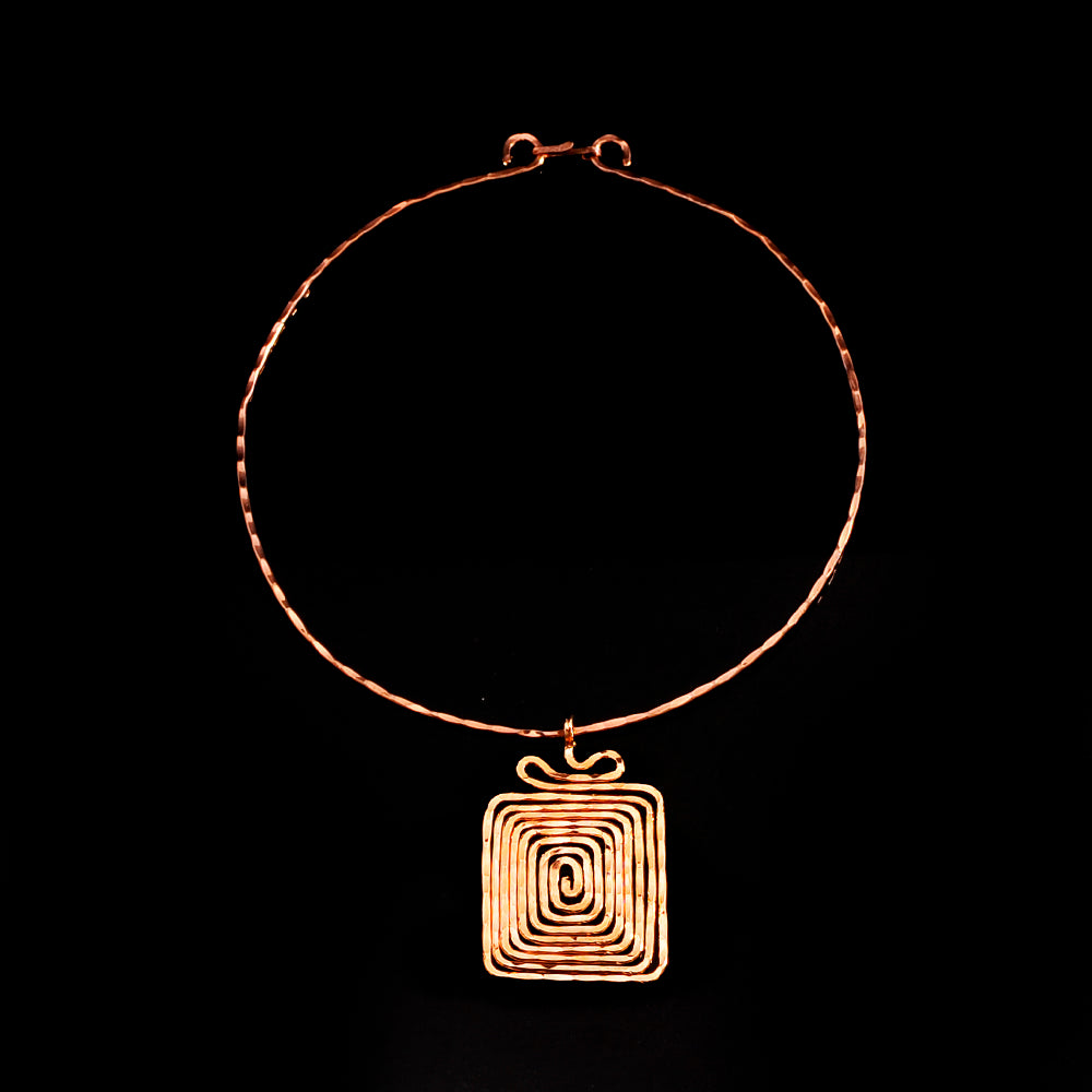 pink gold plated pendant symbol of eternity